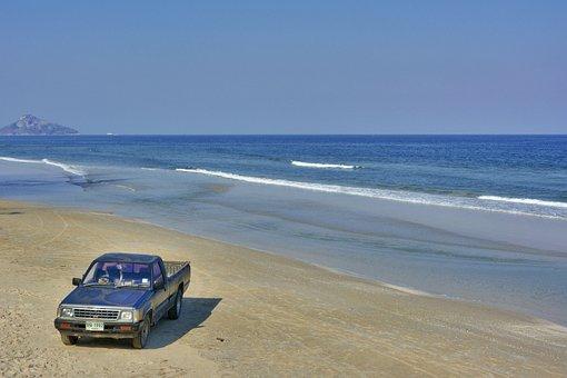 Hua Hin, Thailand, Truck, Freedom, Ocean