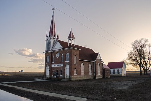 Abandoned Church, Ghost Town, Lutheran Church