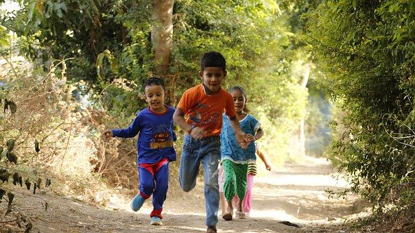 Kids, Running, Child, Kid, Children, Happy, Joy