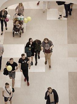 People, Women, Men, Kids, Young People, Going, Interior