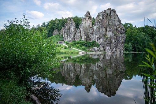 Externsteine, Landscape, North Rhine Westphalia