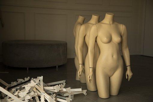 Mannequin, Model, Body, Sexy, Woman, Girl, Chest, Art