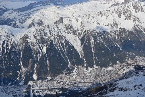 Mountains, Glaciers, Snow, Winter Landscape