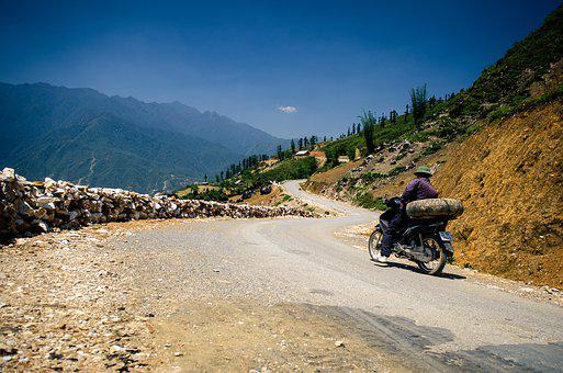 Motorbike, Mountain, Road, Motorcycle