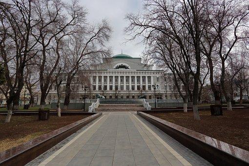 Building, Columns, Architecture, Russia, Bank, Area