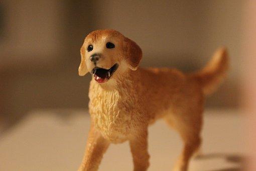 Schleich, Game Thing, Dog, Golden Retriever, Figure
