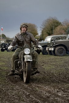 Second World War, War, Ww2, Motorcycle