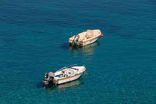 Boats, Anchor, Powerboat, Outboard Engine, Water, Ships