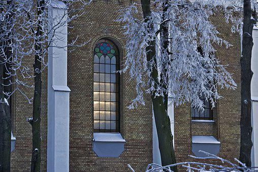 Wall, Window, Stained Glass Window, Lake Dusia, Brick