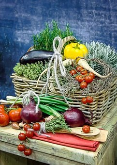 Vegetables, Bio, Fruit, Tomatoes, Cucumber, Onion