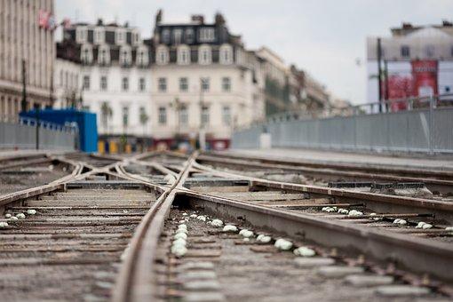Rail, City, Tram, Rails, Train, Transport, Travel