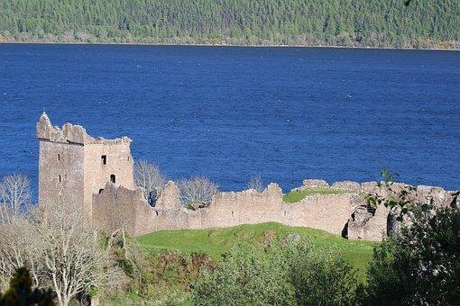 Urquhart Castle, Scotland, Ruins, Urquhart, Castle