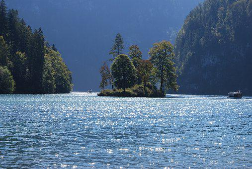 Königssee, Lake, Bavaria, Water, Berchtesgaden, Summer