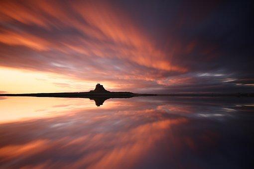 Castle, Sea, Water, Clouds, Landscape