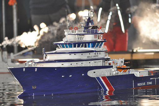 Model, Boat, Ship, Water, Rc, Remote Control, Cargo