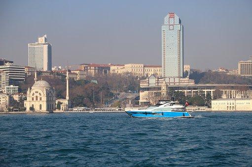 Boat, Ship, Landscape, Marine, Istanbul, Turkey, Water