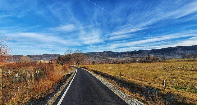 Way, Sky, Mountains, View, Kowary, Poland, Landscape