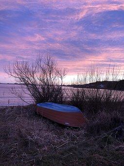 Helgeroa, Norway, Winter, January, Landscape, Sunset