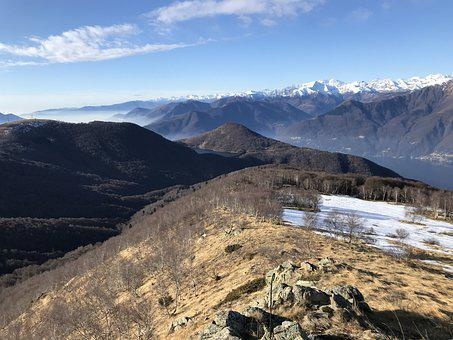 Panorama From The Sasso Torricello, Alpine Route, Alps