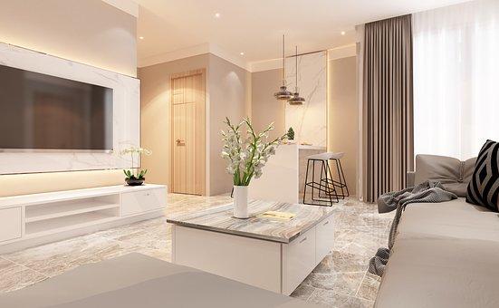 Living Room, Apartment, Interior Design