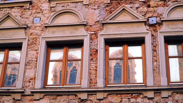 Window, Facade, Old Historic, Architecture, Mirroring