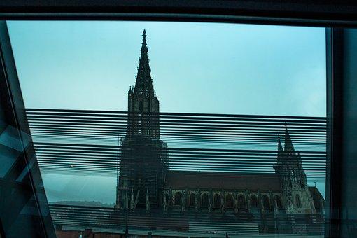 Münster, Church, Glass Window, Building, Architecture