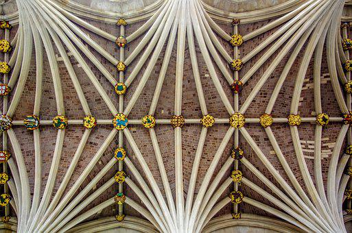 Vault, Cathedral, Church, Architecture, Building