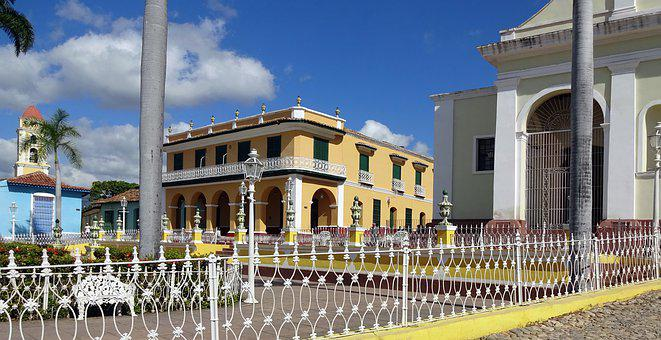 Cuba, Trinidad, Place, Grid, Facade, Architecture