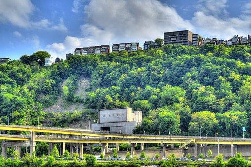 Pittsburgh, Bridges, Bridge, Tunnel, Fort Pitt Tunnel