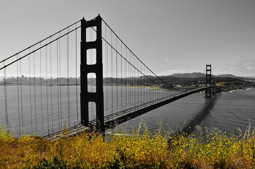 Golden Gate Bridge, California, San Francisco, Usa, Bay