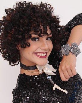 Accessories, Hair, Curls, Bracelet, Necklace, Elegant