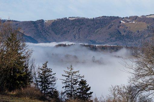 Nature, Landscape, Mountains, Jura, Haze