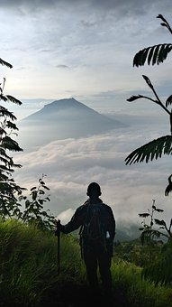 Mountain, Silhouette, Sky, Landscape, Adventure, Hiking