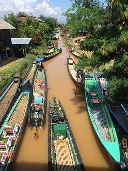 Myanmar, Inle Lake, Brine, Boat, Asia, Boats, Travel