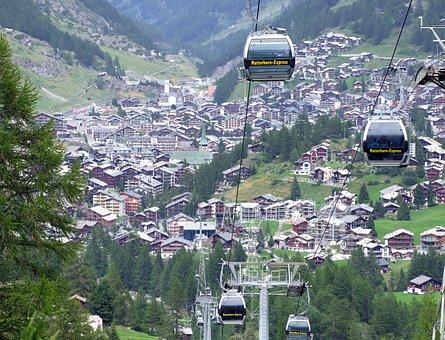 Zermatt, Switzerland, Lift, Alps