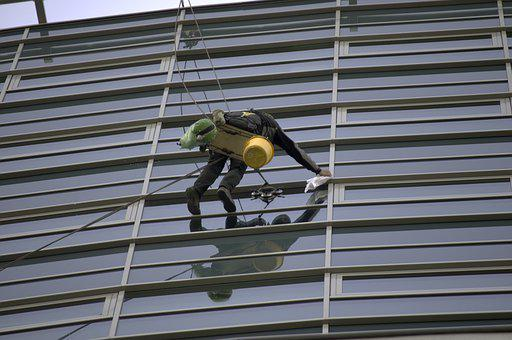 Man, Person, Worker, A Mountain Climber, Cleaning