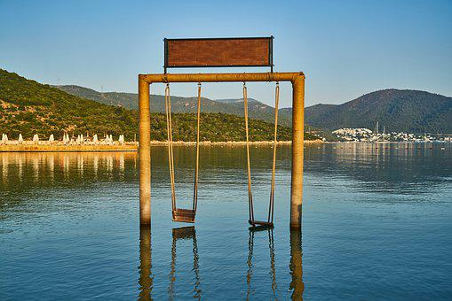 Swing, Holiday, Beautiful, Marine, Beach