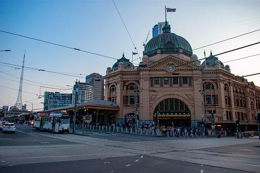 Melbourne, Flinders Street Station, Australia, City