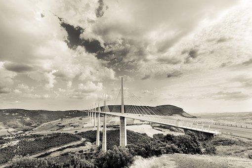 Viaduct, Millau, Architecture, Bridge