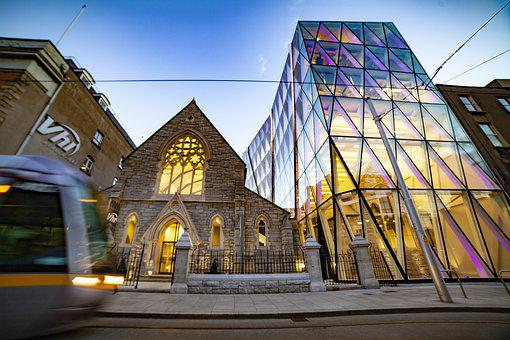 Architecture, Glass, Modern, Old, Church, Office