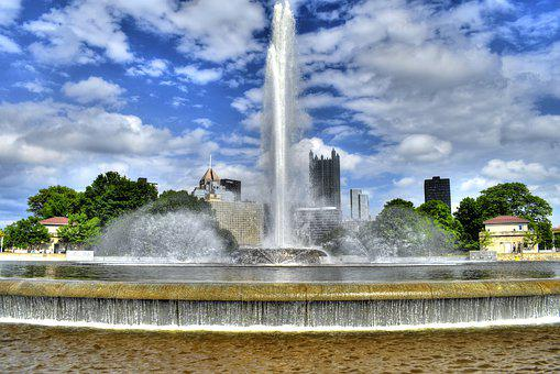 Pittsburgh, The Point, Rivers, Park, River, Nature