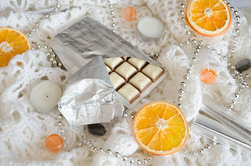 Chocolate, Oranges, Candy, Dessert, Nutrition