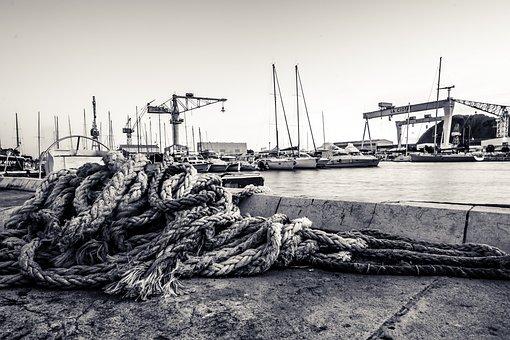 Ciota, Sea, Port, Rope, Water, Boat, Travel, Ocean