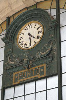 Clock, Station, Port, Portugal, Points, Time, Minutes