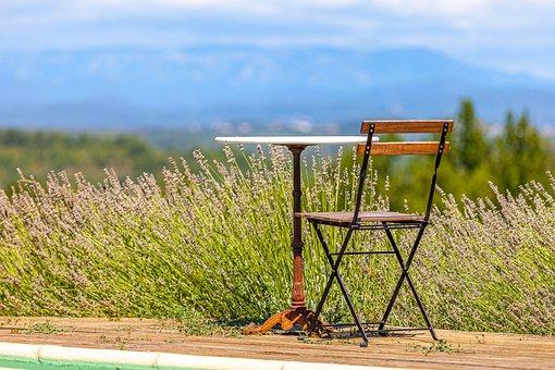 South, France, Lavender, Landscape, Sky, Gar, Provence