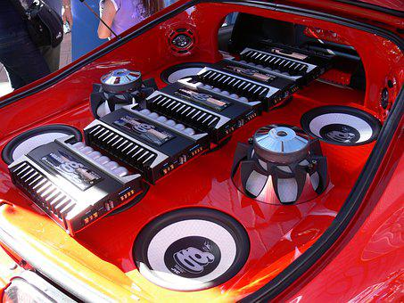 Car Sound System, Red, Boot, Trunk