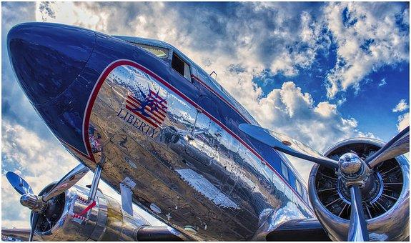 Aircraft, Propeller, Usa, Liberty, Flying, Sky
