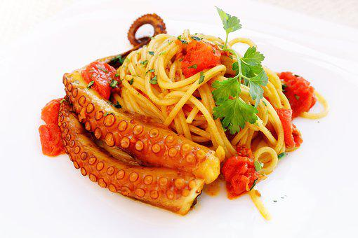 Spaghetti, Pasta, Octopus, Fish, Fish Food