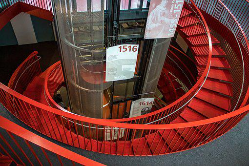 Stairs, Elevator, Architecture, Staircase, Building