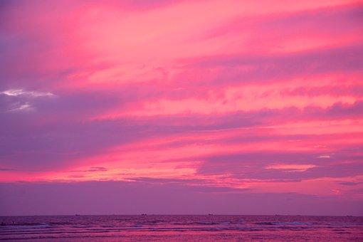 Evening, Sky, Sunset, Nature, Sun, Sea, Landscape